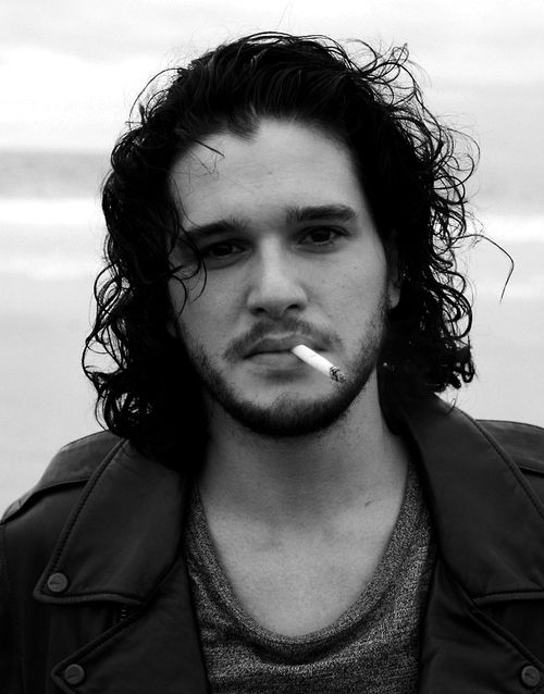 Kit Harington ... It's something about the whole unwashed British smoker thing... I feel the same about Tom Hardy. lol