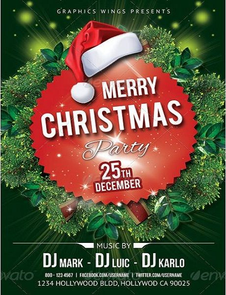 25 best Merry Christmas Flyer Template images on Pinterest - christmas flyer template