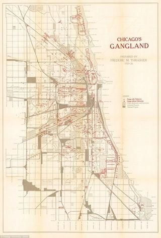 Chicago's gangland 1923-1926 - hideouts and territories  #map #chicago #crime