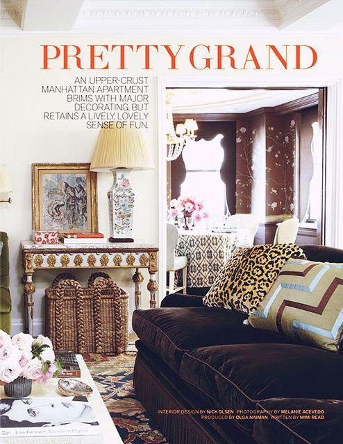 Brown Velvet Sofa   Interior Design by Nick Olsen