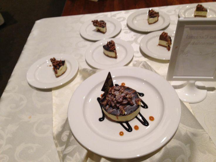 Copetown Woods Wedding Tasting, cheesecake with chocolate, nuts, etc, YUM