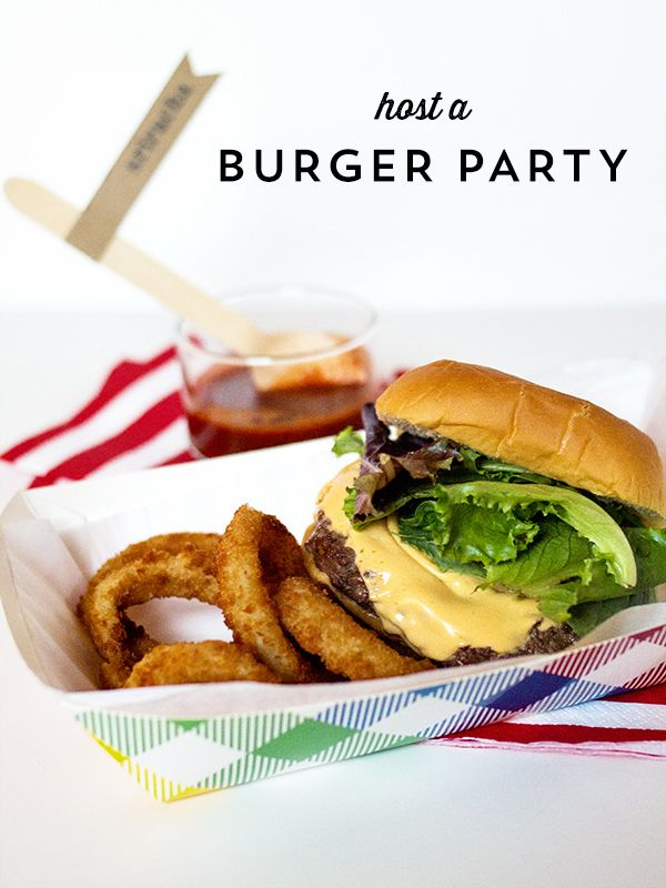 Burger Party Printables | Sarah Hearts... I really want to do this!