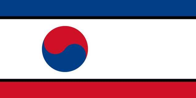 Countries Bordering North Korea In The Style Of North Korea South Korean Flag Korean Flag Alternate History