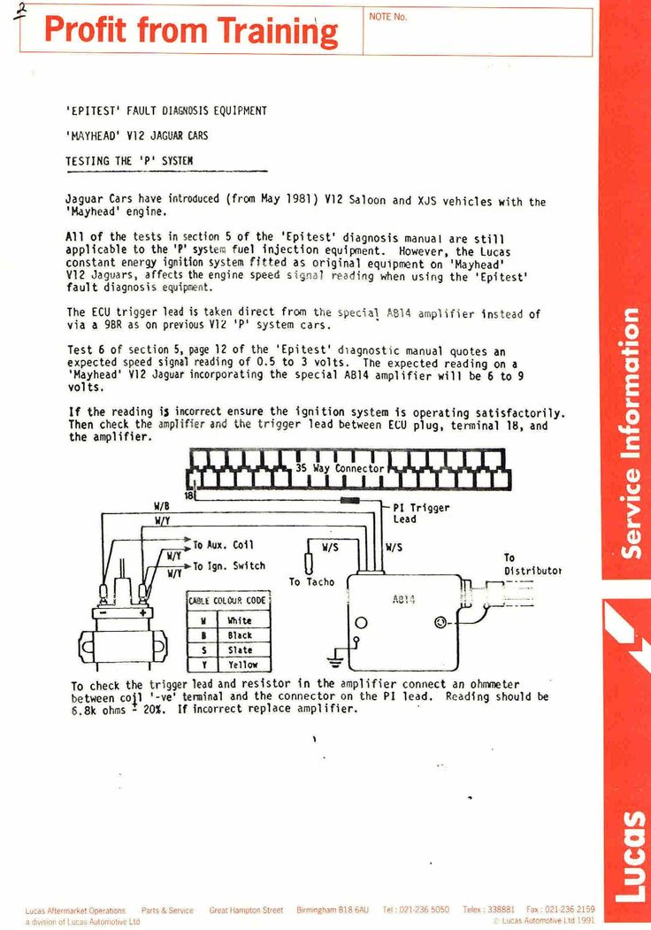 Lucas Electronic ignition Training manuals Service Notes Lucas - training manual