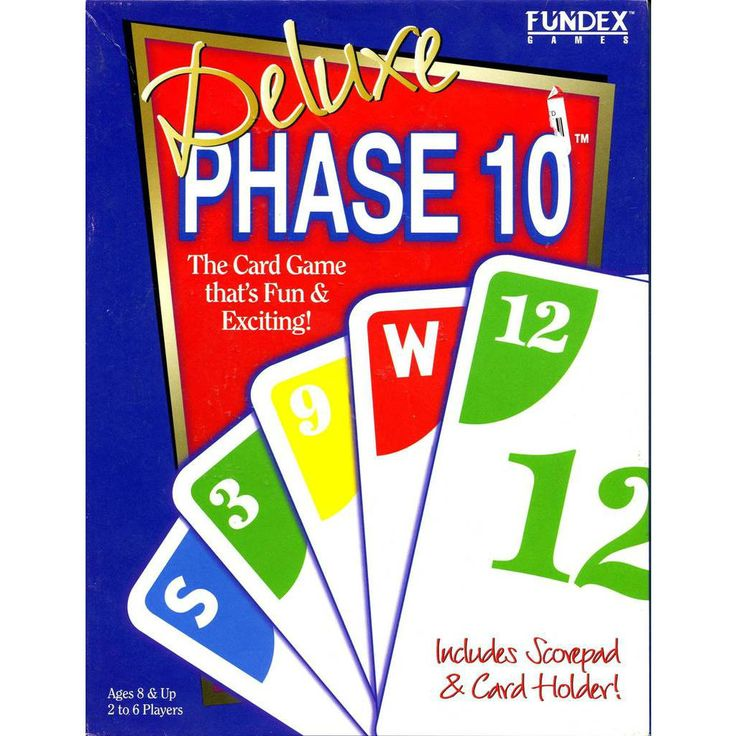 Deluxe phase 10 phase 10 card game card games fun