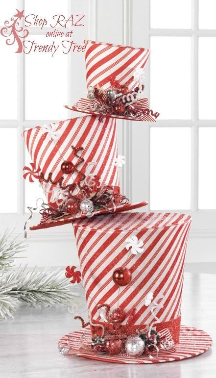 RAZ 2015 Peppermint Toy Collection at Trendy Tree, decorated RAZ tree
