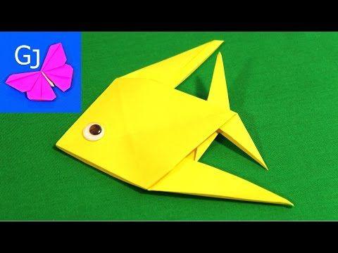 Оригами рыбка - YouTube