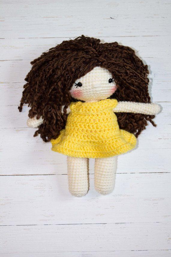 Crochet Doll Pattern Amigurumi Doll Pattern by TheFriendlyRedFox