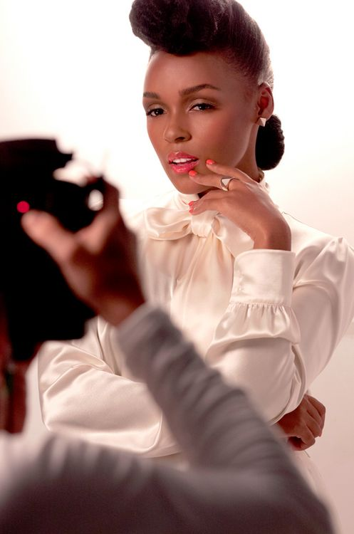 """afrocentricmiss:    areyouafreak:    Guess who's the new face of CoverGirl?Janelle Monae, the one coolest 26-year-old singer on the block who knows how to dress stunningly in female wear and accordingly in menswear (That """"Tightrope,"""" video?) joins P!nk as the new faces of the make-up brand.Noooo complaint. Those two are gorgeous.Look at how much face she is giving, got dammit.    !!!!!!"""