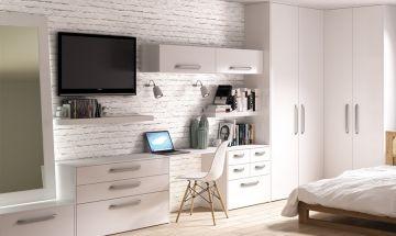 Porcelain White Venice Bedroom Doors - By BA Components