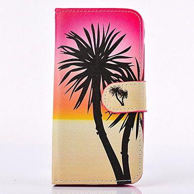 kookospuu pattern PU nahka koko kehon tapauksessa korttipaikkaa ja seistä Samsung Galaxy S3 / S4 / S5 / S6 / S6 reuna – EUR € 7.99