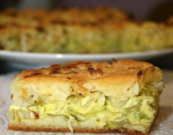 Капустный заливной пирог: прекрасный образец диетической выпечки на скорую руку!