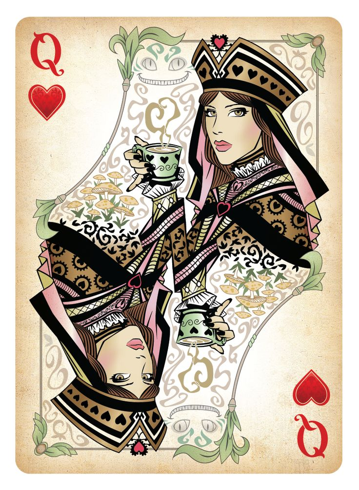 queen of hearts card the queen of hearts playing card by. Black Bedroom Furniture Sets. Home Design Ideas