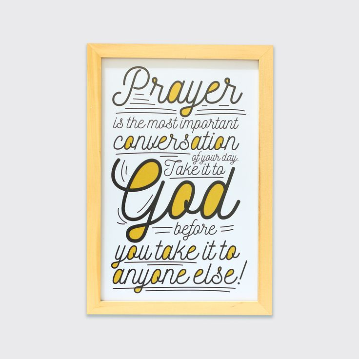 Prayer Is The Most Important Conversation (MAR16-09) - Berdoa merupakan hal terpenting yang harus dilakukan, maka sebelum melakukan sesuatu, hendaknya diiringi dengan doa terlbih dahulu. Hiasan dinding ini bisa mempercantik kamar ataupun kamar ibadah di rumah.