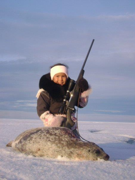 Her first seal catch (age 7), photo by Angela Gibbons