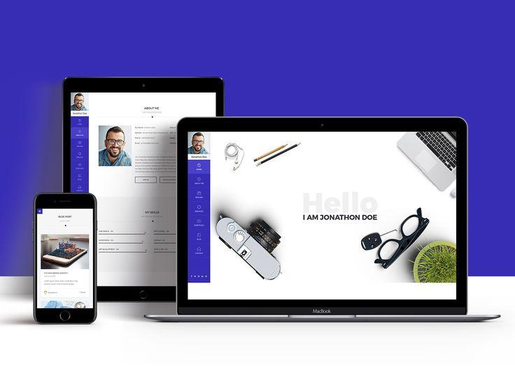 Přes 25 nejlepších nápadů na téma Resume Templates Free Download - free resume website template
