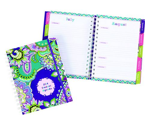 Student agenda is seriously a must have. Mine just came in today for 2014-2015 in Flower Shower!