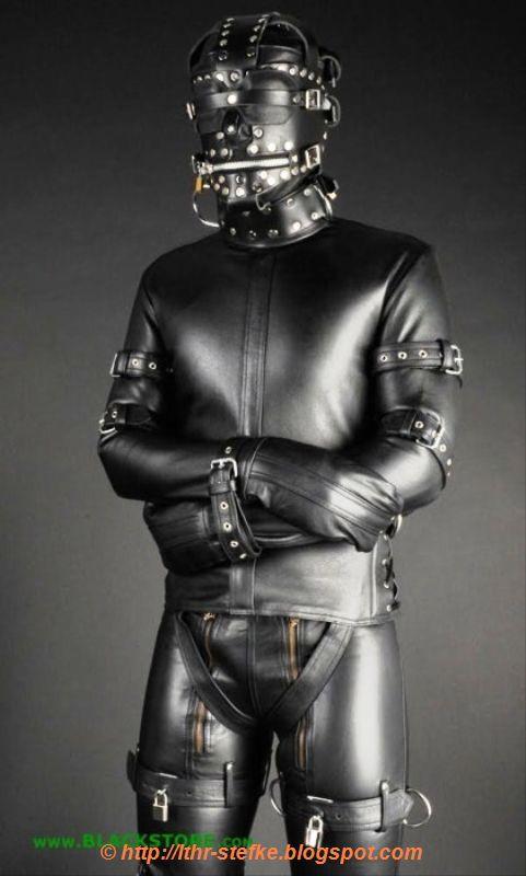 Leather Straitjacket Bondage 117