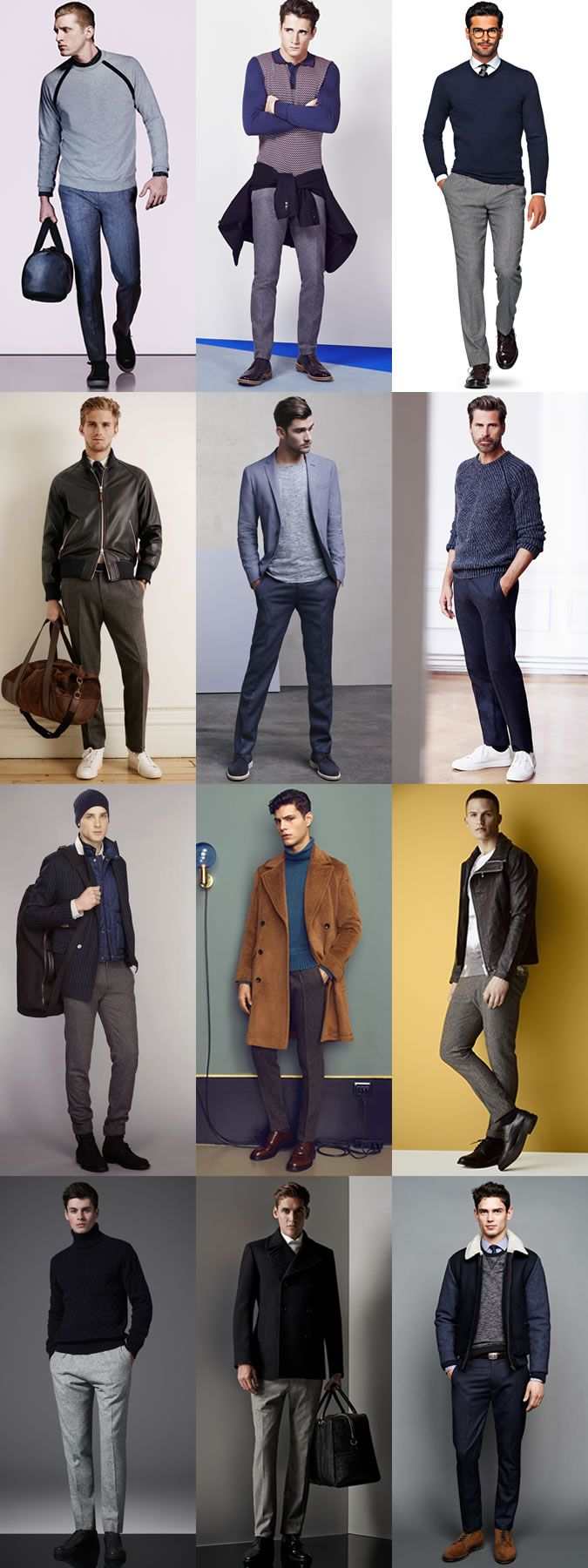 Men's Autumn Wardrobe Essentials: Wool Trousers Autumn Outfit Inspiration Lookbook