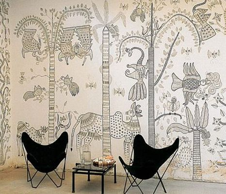 95 best indian wall art images on pinterest indian art for Design a mural online