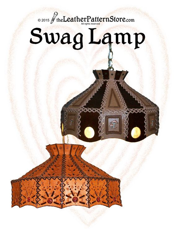 Swag Lamp leathercraft pattern  PDF leather by leatherpatternstore