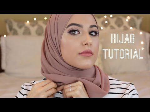 Hijab Tutorial : Square Scarf! - YouTube
