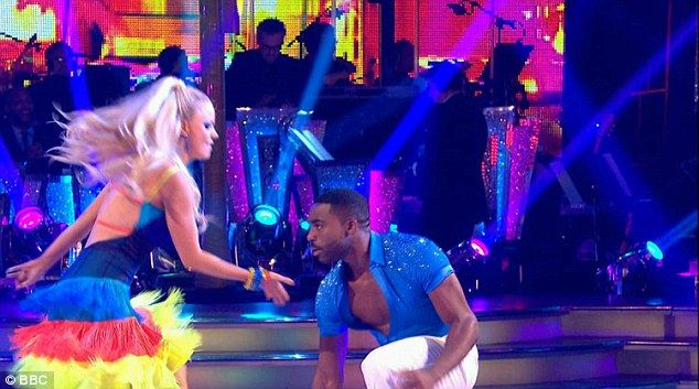 Funky classic: The athletic pair danced to Vicki Sue Robinson's Turn The Beat Around