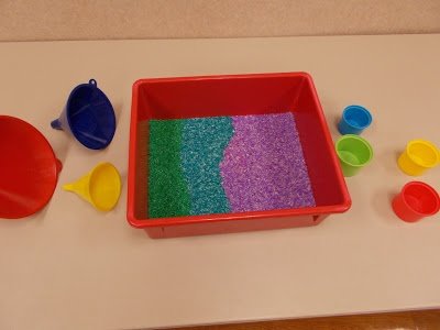 Miss Courtney Meets Bobo: Messy Learning Lab: Rainbow Floam and Rice