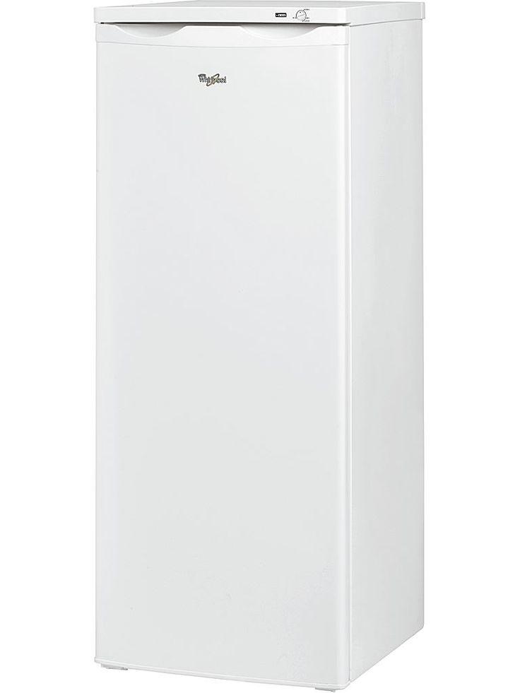 Whirlpool WV 1510 W frysskåp. Frysen är energieffektiv i energiklass A+ och temperaturen styrs mekaniskt. Infrysningskapaciteten är hela 8 kg/dygn och det finns 6 fryslådor.