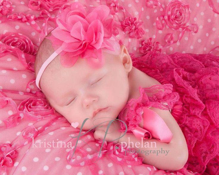 Baby Girl Headband, Pink Baby Headband,Hot Pink Baby Headbands,Newborn Headband,Chiffon Headband, Flower Headband, Newborn Photo Prop by my2lilpixies on Etsy https://www.etsy.com/listing/168513442/baby-girl-headband-pink-baby-headbandhot