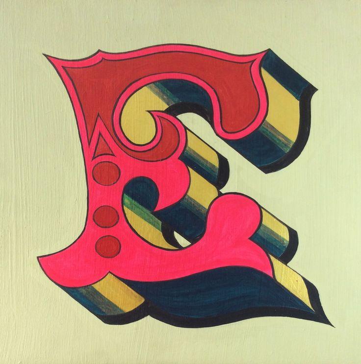 Hand painted letter by Helen Cann. www.helencann.co.uk