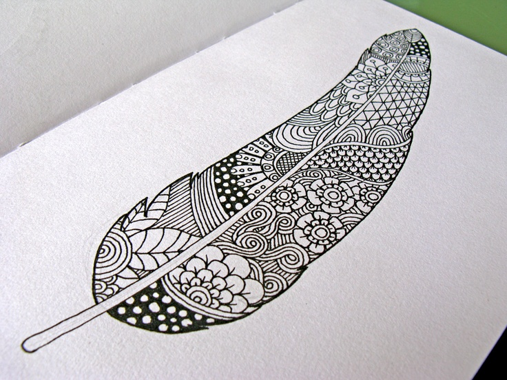 Line Drawing Feather : Best zen feathers images feather art