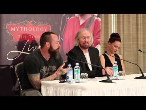 As he is just about to kick off his Mythology Tour, performing alongside his niece Sammy and son Steve, Barry Gibb held a media conference in Sydney today to chat about the show, his brothers and coming home to Australia 2013