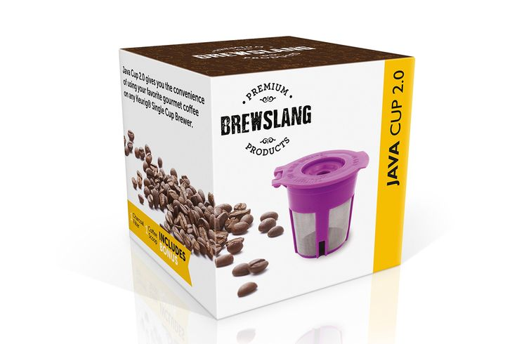 "Brewslang Reusable K-Cup Filter ""JAVA CUP 2.0"" for Keurig Single Cup Brewers -Fits K300(K300 Plus)–K325(K325 Plus)–K350(K350 Plus)–K360(K360 Plus)– K375(K375 Plus) – All Keurig Hot 2.0 Machines"