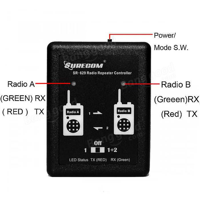 SR-629 Duplex Repeater Controller for Walkie Talkie Two Way