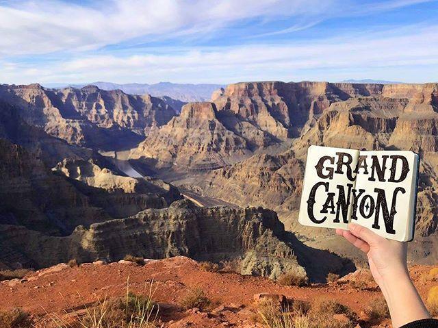 """Grand Canyon"" Artist: @Karletters Location: Grand Canyon AZ USA  #calligrascape #calligraphy #lettering #wanderlust #explore #flourishforum #travel #letteringdaily #grandcanyon"