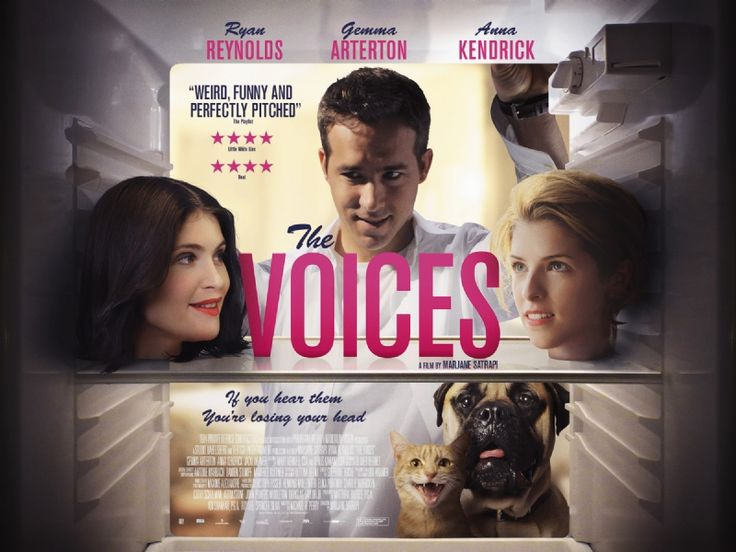 The Voices - I can't wait to see this one; looks so good. Plus......hello Ryan Reynolds!