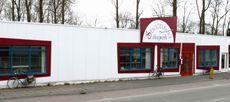 Dit is de voorkant van onze winkel en werkplaats aan de Ulgersmaweg 27 in Groningen