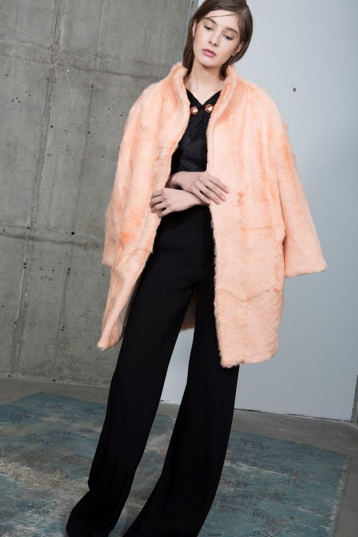 Pinkie fur coat