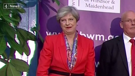 The Prime Minister Theresa May reacts to Lord Buckethead getting 249 votes.  The candidate whose na #news #alternativenews