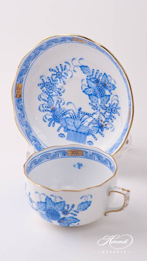 €162 Tea Cup Classic – Indian Basket Blue – Herend Fine china 724-0-00 FB – Blue