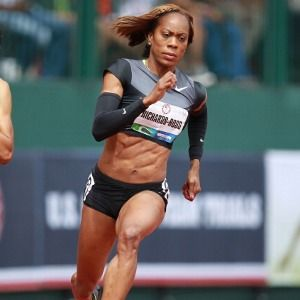 Sanya Richards Ross.  One bad girl.  Another reason to look forward to the Olympics.