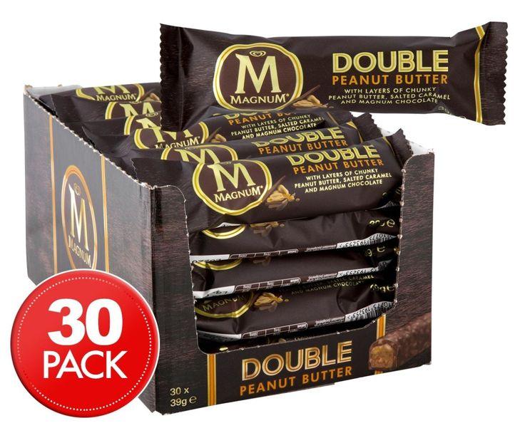 30 x Magnum Double Peanut Butter Bar 39g