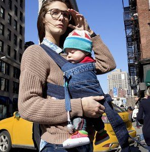 REWEAR NYC Recycled Denim Baby Carrier