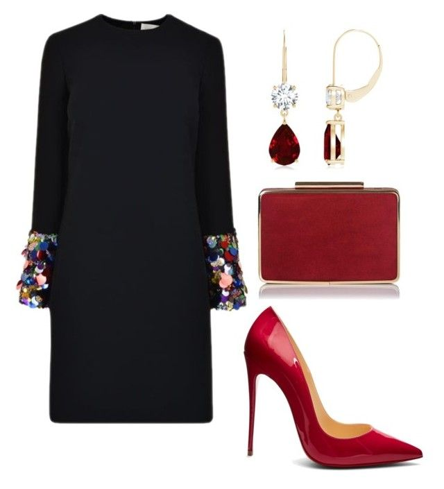 """chics"" by mchlap on Polyvore featuring Victoria Beckham and Christian Louboutin"