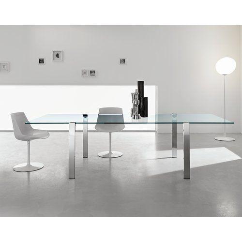 Esstisch Richborne Urban Designs Größe: 120 cm B x 90 cm T, Farbe (Gestell): Weiß lackiert, Farbe (Tischplatte): Extra klar