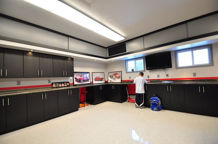 25 best ideas about dream garage on pinterest car for Finished garages interior