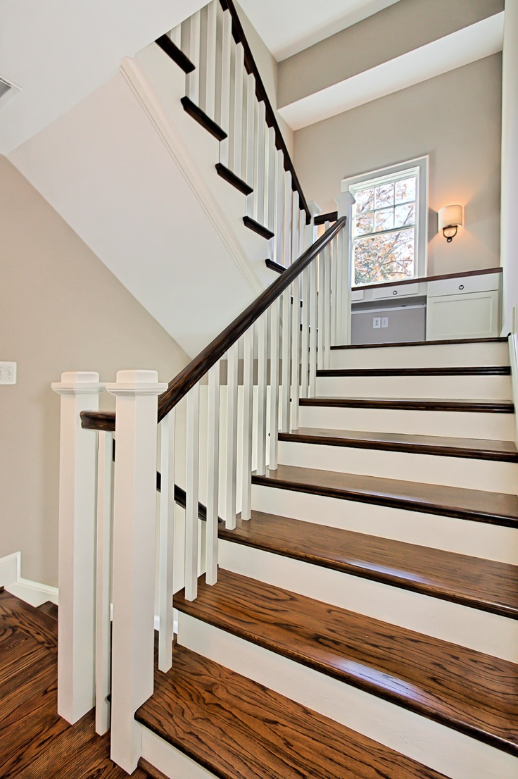Best Wood Grain White Riser Open Stair Around The Home 400 x 300