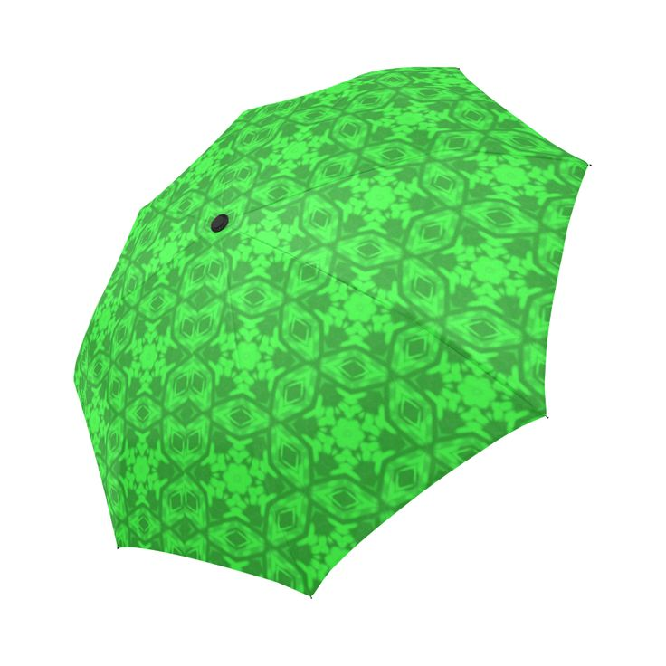 Greenery Kaleidoscope 8075 Auto-Foldable Umbrella