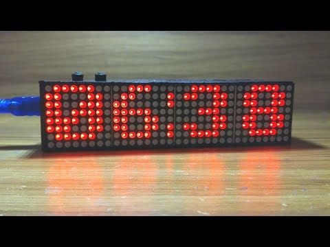 Arduino Real Time Led Matrix Clock with 12 Hour format (with